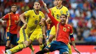 إسبانيا ضد السويد.. موعد المباراة والقنوات الناقلة