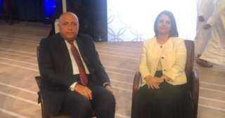 تفاصيل مباحثات شكرى مع وزيرة خارجية ليبيا