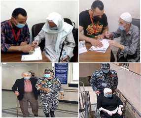 بالصور .. خدمات متميزة لكبار السن وذوى الإحتياجات الخاصة فى الجوازات