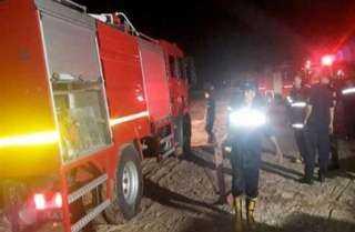 وصول أعضاء النيابة العامة الى مقر حريق وزارة الزراعة واستصلاح الأراضي