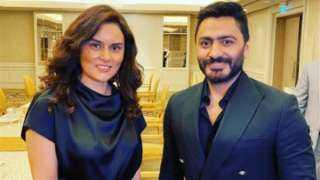 رشا مهدي تشارك جمهورها بصورة مع تامر حسني من السعودية