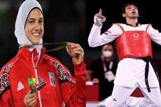 استادات تهنئ هداية ملاك وسيف عيسى بالميدالية البرونزية والانجاز الأولمبى الكبير