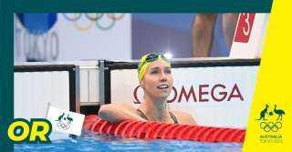 السباحة الأسترالية ماكوين تحطم الرقم القياسي الأولمبي لسباق 100 متر حرة