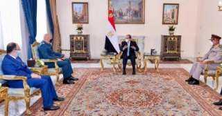 السيسى يبحث مع قائد الجيش اللبنانى تطورات الأزمة اللبنانية