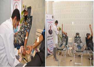 شاهد بالصور ..حملات للتبرع بالدم بمديرية أمن القاهرة