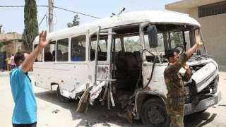مقتل شخص وإصابة 3 آخرين في انفجار حافلة عسكرية بدمشق