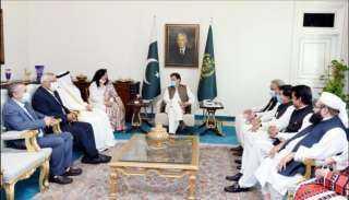 رئيس وزراء باكستان يستقبل رئيس البرلمان العربي