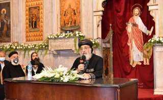 شاهد.. البابا يكرم الأوائل والمتفوقين بالإسكندرية