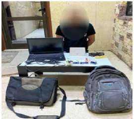 مباحث القاهرة تضبطشخص قام بسرقة شركة بأسلوب كسر الباب