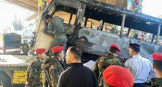 الحصيلة النهائية لضحايا تفجير حافلة مبيت عسكرية في دولة عربية كبري