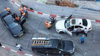 بالصور.. تعرض سيارة نتنياهو لحادث سير مروع في القدس
