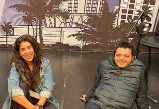 """أيتن عامر تروج لمسرحيتها الجديدة """"سلام مربع"""" مع محمد هنيدي"""